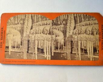 Stereoview of Niagara Falls Vintage Photo Frozen Terrapin Bridge