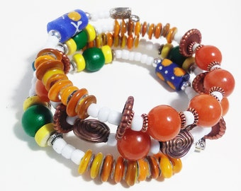 REMARKABLE - Coil Memory Wire Wrap Bracelet, Affirmation Jewelry, Cause Jewelry, Benefits Homeless Mothers of Atlanta