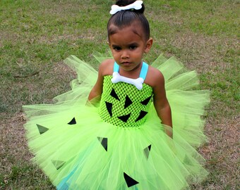 Pebbles costume/ flintstone costume/ pebbles tutu/ caveman costume/ caveman costume/ flintstone tutu/ pebbles tutu dress