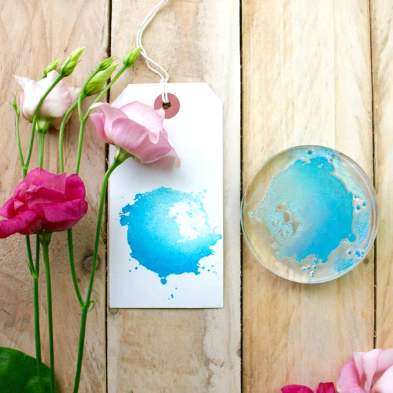 Watercolour Splash Splat Stamp - Watercolour Stamp - Splat Stamp - Present for Her - Gift - Clear Stamps - Rubber Stamp - Little Stamp Store