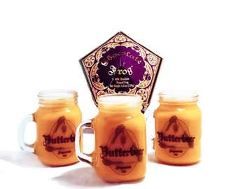 Harry Potter Inspired Mini Butterbeer Soy Candle