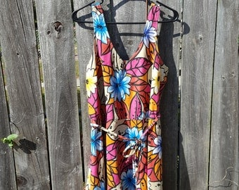 Plus Size Skater Dress Vintage 2XL Dress