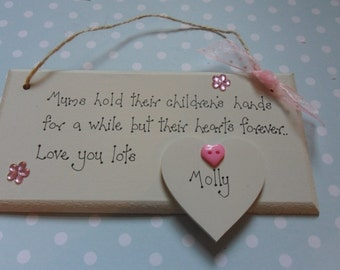 Mother's Day Mum,Mam, Mother,    PERSONALISED SIGN/PLAQUE  gift