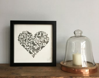 Butterfly Heart Illustration Print