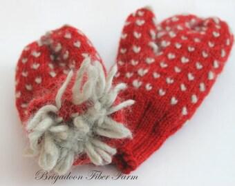 Alpaca Thrum Mittens Knitting Pattern