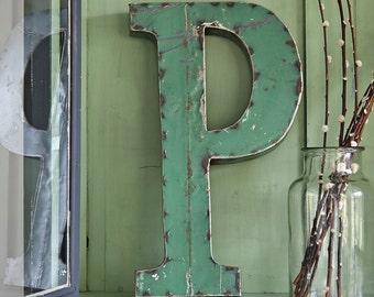 Large Metal Letter P