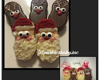 Santa Claus and Reindeer Chocolate Covered nutter butters