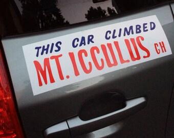This Car Climbed Mt. Icculus - Phish Gamehendge - Vinyl Bumper Sticker