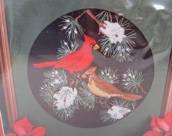 Christmas Traditions 1976 Cardinals Cross Stitch Kit