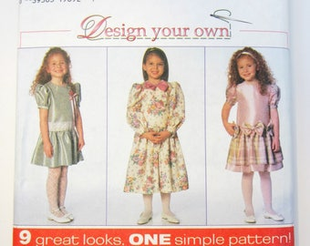 Simplicity 7400 Girl's Dress Sewing Pattern Sizes 5 - 8 Uncut