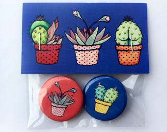 Suggestive Succulent Buttons!