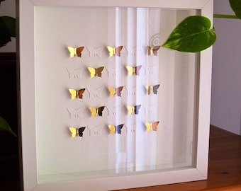 3D paper butterflies/ wedding / home decoration / wall art / wall decor / butterfly / present / Valentines Day