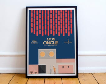 Mon Oncle, Jacques Tati, Fine art Print, Monsieur Hulot, giclée alternative movie poster, french cinema, classic film, old