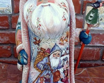Santa Claus. Hand Carved and Hand Painted. Children. Russia.