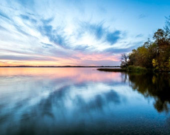 Lake Waconia, Minnesota Sunset - Reflections