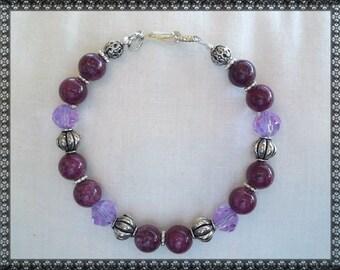 purple bracelet, dark purple, light purple, purple crystal, crystal, plum