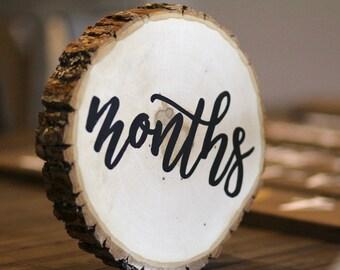 baby milestone months, wood stump months, wood months
