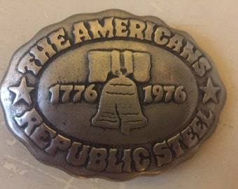 Republic Steel belt buckle