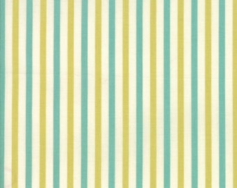 Essentially Yours Chartreuse Stripe Print by Moda Fabrics, 100% Premium Cotton by the Yard