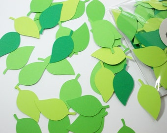 Leaf Confetti, Party Decoration, Table Confetti, Leaf Cutouts, Leaves