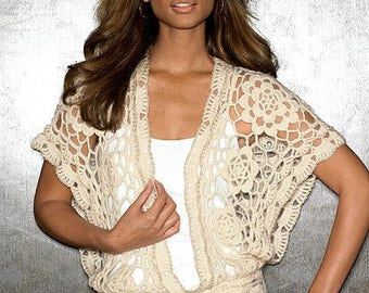 Crochet blouse  - made to order - hand made