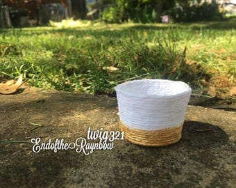 1:6 Scale Doll Basket • Small • Ready to Ship