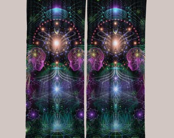 Holobloom (1 Panel) // Psychedelic Men and Womens Festival Clothing, Accessories & Decor by Samuel Farrand