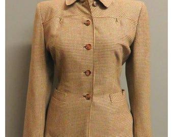 Vintage 1940s wool jacket brown/beige Medium