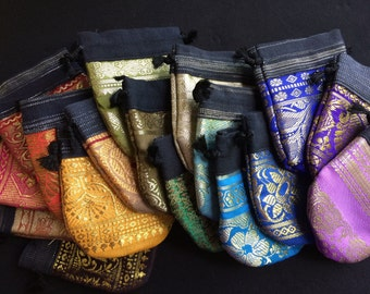 15/30 Small Gift Bags, Party Favor Bags, Wedding Favor, Gift Pouch, Sari  Bag, Drawstring Bag, Jewelry Pouch, Jewelry Bag, Sari Bags