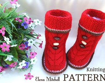 Knitting PATTERN Baby Booties Knitting Patterns Baby Shoes Baby Uggs Knitted Baby Booties Knitted Baby Boots Baby Boy Baby Girl Booty PDF