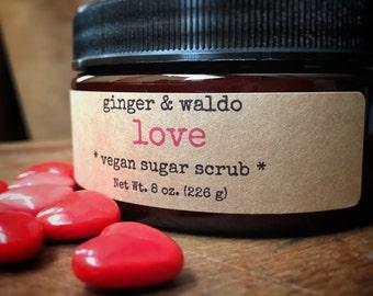 Love Vegan Sugar Scrub - Love Scrub - Vegan Scrub - Sugar Scrub - Body Polish - Karma Collection
