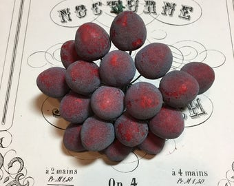 Vintage millinery fruit Plums