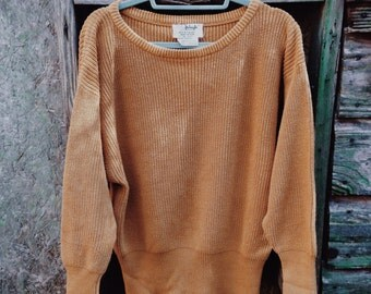 Vintage Slouchy Ribbed Mustard Sweater