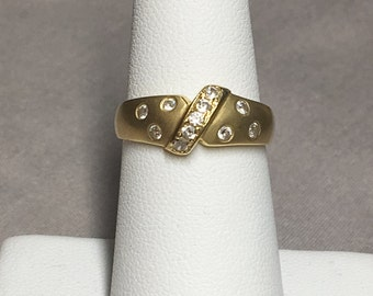 14k Yellow Gold CZ Ring