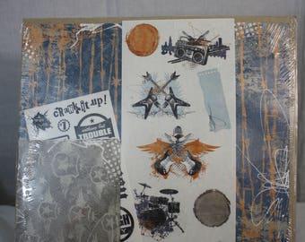 Creative Memories Power Palette 12x12 Scrapbook Paper Rock Grunge