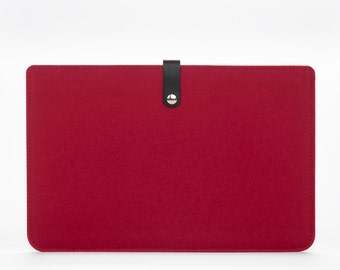 MacBook Air 11 Sleeve - MacBook Case - MacBook Cover - MacBook Air Leather - MacBook Red Felt Case - 11 inches Laptop Sleeve
