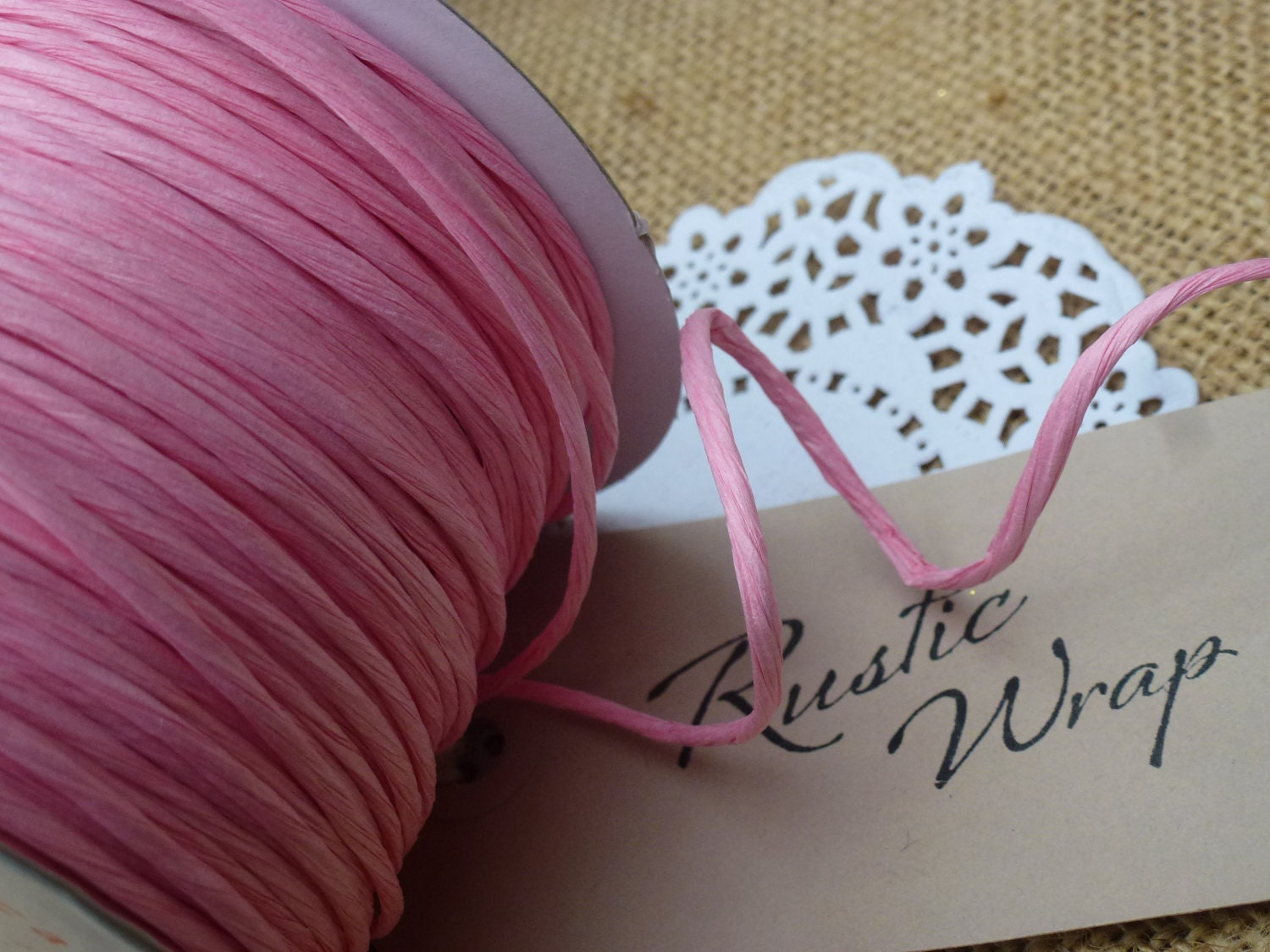 Paper covered craft wire - 8m Pale Pink Paper Covered Craft Florist Wire 2mm