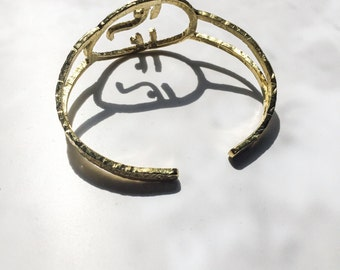 Human face Bangle-Angie Bangle