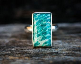 Amazonite Ring Size 7 - Amazonite Ring - Amazonite Jewelry - Amazonite Rings - Amazonite Ring 7 - Amazonite Ring - Stunning Amazonite 7