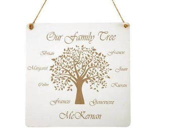 Family Tree plaques