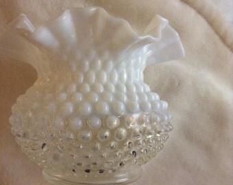 SALE - One Vintage Milk Glass Vase