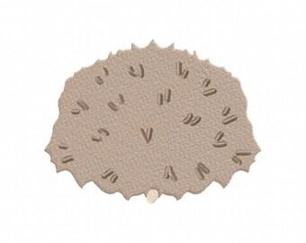 Hedgehog Behind Machine Embroidery Design