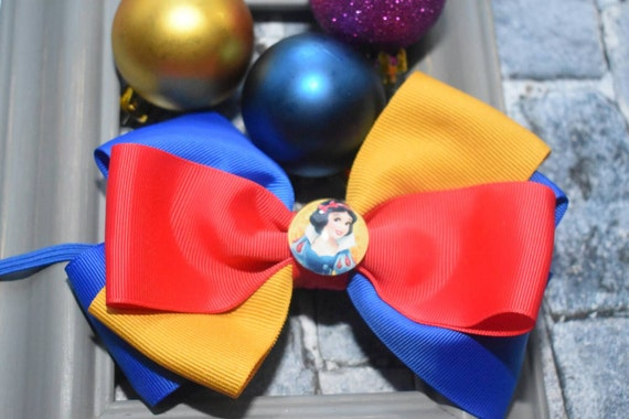 Disney princess snow white bow - Baby / Toddler / Girls / Kids Elastic Hairclip / Hair Barrette / Hairband / Headband / holiday gift