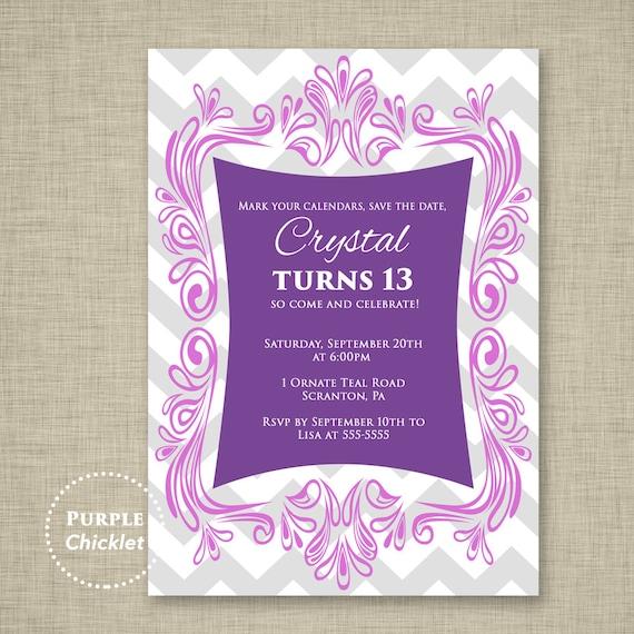 lila 13. geburtstag einladung colorful fun lavendel tween, Einladungsentwurf