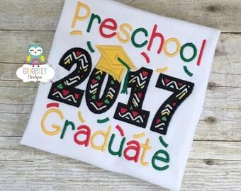 PreSchool Graduate 2017 Shirt, School Graduation, Pre-K Graduation, Kindergarten Graduation, Graduation 2017, School Graduation