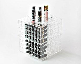 Glam XL Spinning Lipstick Organizer - Lipstick Holder - Lipstick Tower - Makeup Organizer - Makeup Storage - Acrylic Makeup Organizer