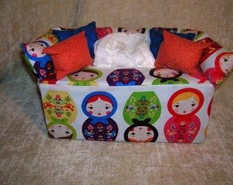 Fun Tissue Box Covers- Russian Dolls, Minions, Penguins, Butterflies, Little Princesses, and Cat in the Hat