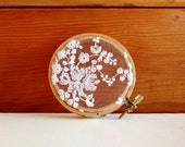 Lace Embroidery Hoop - Decoration - Earring Holder - Wall Hanging - 3 1/2""