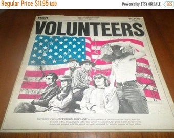 Save 30% Today Vintage 1969 Vinyl LP Record Volunteers Jefferson Airplane Very Good Condition 5257