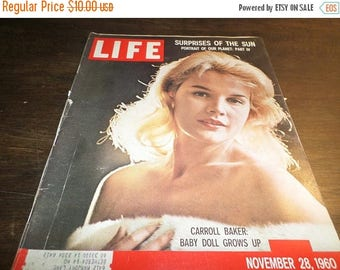 Save 25% Now Vintage Life Magazine November 28 1960 Carroll Baker Excellent Original Condition Neat Old Ad's